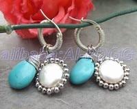 Große! münze Perle Perlenohrring-925 Silber Leve Zurück