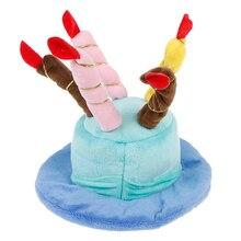 Костюм для дня рождения головные уборы аксессуары товары для шапки для собак для домашних животных для кошек собаки шапки ко дню рождения шляпа с тортом свечи дизайн