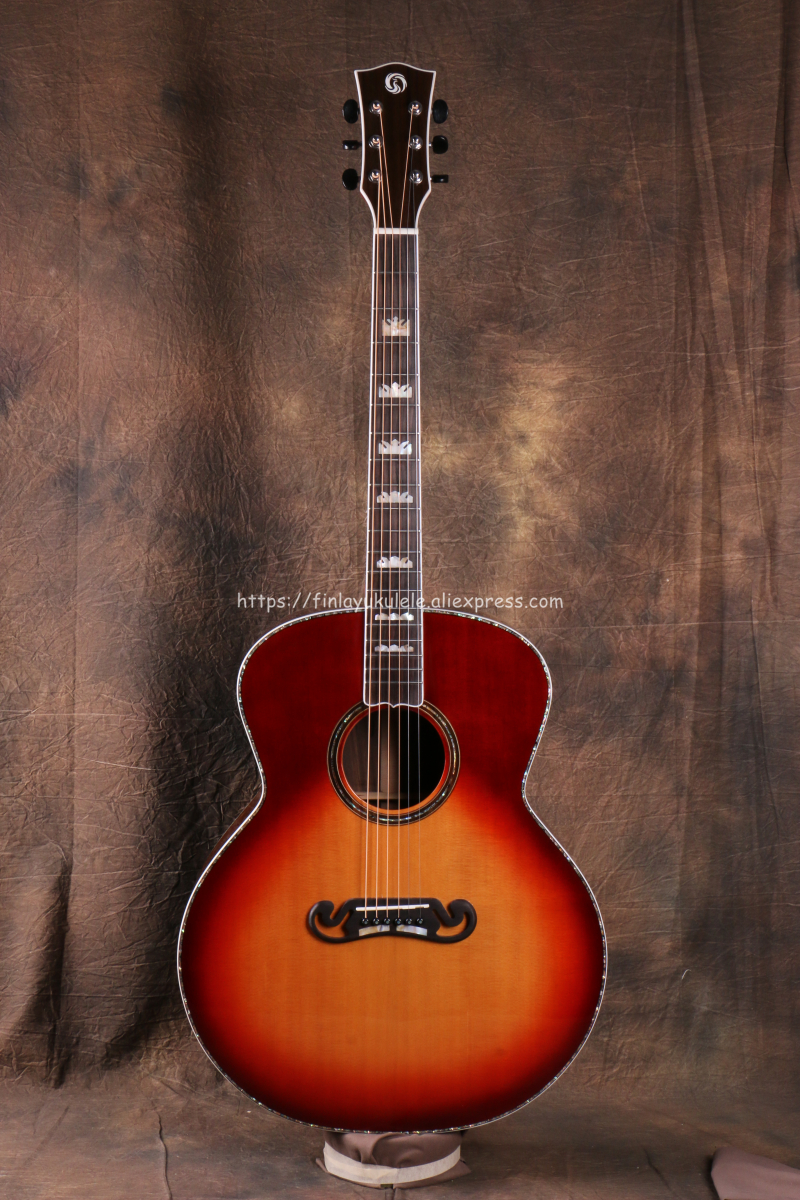 Finlay Professional Full Solid Guitar,42 Jumbo guitar with Solid Spruce Top/ Solid Rosewood Body,OM Body FG-W83 цена