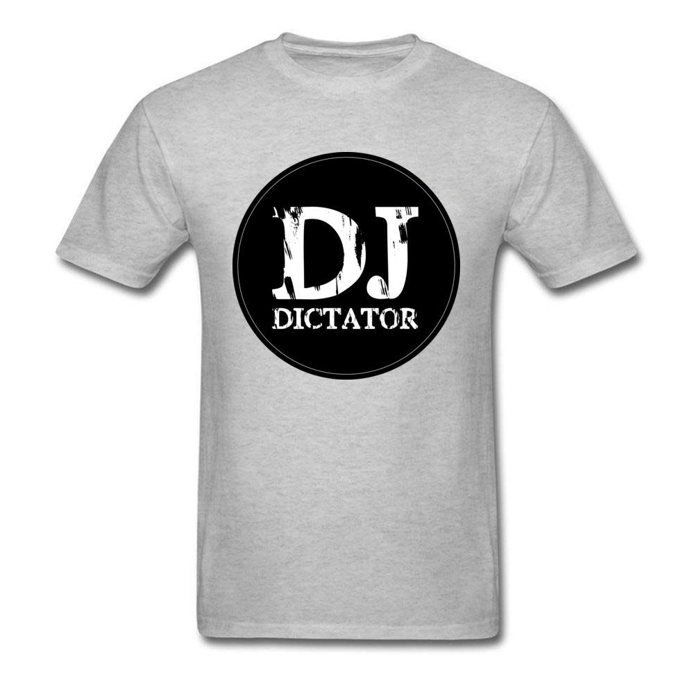 Hip Hop Official DJ Dictator Apparel T Shirts Father Day Round Neck 100% Cotton Tops Shirt Male Tshirts Design Heavy Metal Band