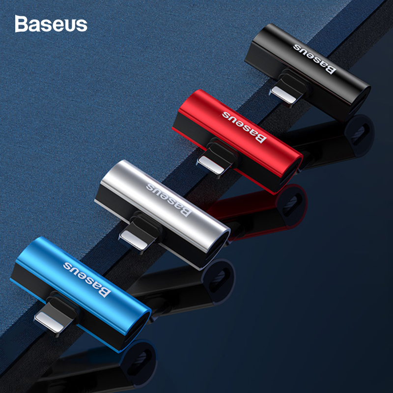 Baseus Audio Adapter For IPhone Xs Max Xr X 8 7 Plus Splitter Earphone Headphone Connector OTG Cable Adapter For IPhone Xsmax