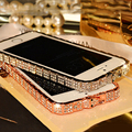 Para iphone 7 7 plus case bling cristalino de lujo de la serpiente de metal rhinestone phone case para iphone 5 5s se 6 6 s Plus