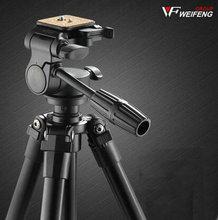 лучшая цена DHL gopro Weifeng wf 6724 wf-6724 aluminum alloy tripod wf-6724 professional slr camera tripod household dv tripod wholesale