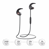 HATOSTEPED AWEI AK1 Wireless Bluetooth Earphones Headphones Sport Waterproof Stereo Headset For Phone With Magnetic Control
