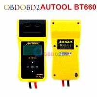 AUTOOL BT660 12V Car Battery Load Tester With Printer BT660 Digital Automotive Battery Tester CCA100 3000 Multi language