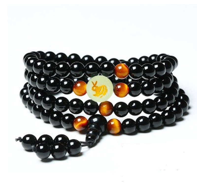Onyx and Tiger's Eye Mala 2