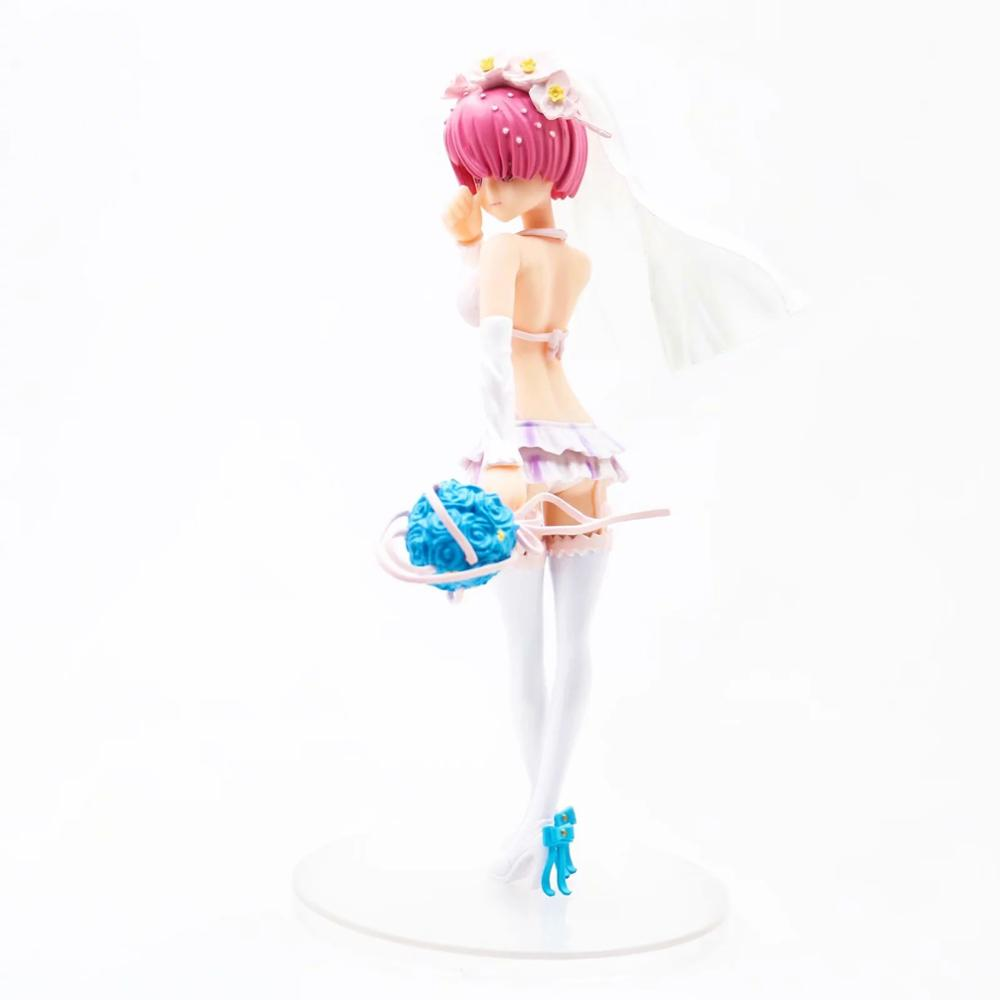 Ram anime model figures Re:<font><b>Life</b></font> in a different world from zero Wedding dress Ver. <font><b>sexy</b></font> <font><b>bikini</b></font> girl saction dolls gift figure image