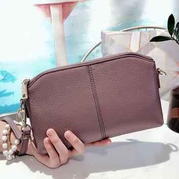 Umhängetelefon Brieftasche | Luxus Handtaschen Frauen Taschen Designer Echtem Leder Kupplung Tasche Mode Schulter Umhängetaschen Weibliche Kupplung Geldbörse Geldbörsen Tasche