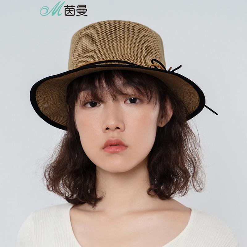 INMAN New Women Hats Sun Straw Hat Beach Hats Lady Derby Caps Wide Brim Floppy Fold