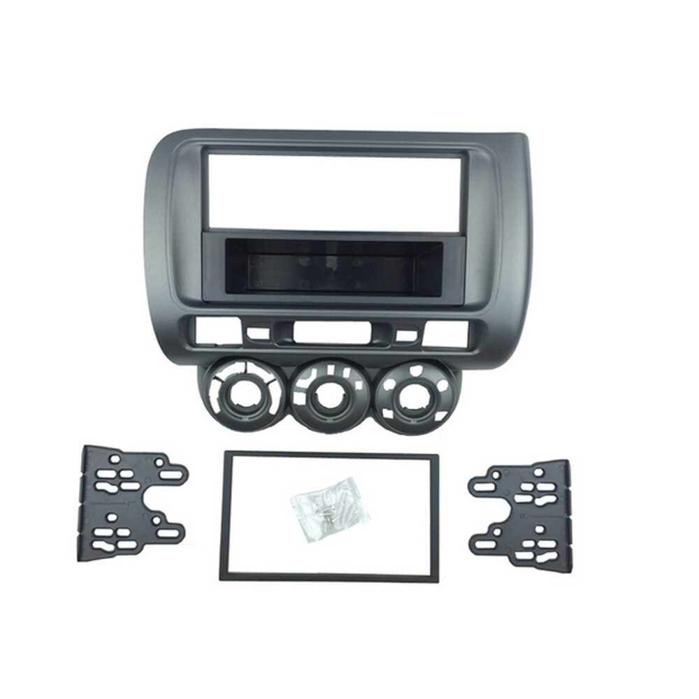 цена на for Honda Jazz Radio DVD Stereo One/Double Din Facia CD Panel Dash Mounting Installation Trim Fascia Kit Face Frame Bezel