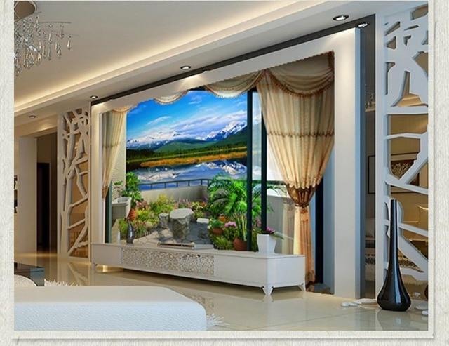 Innenraumfenster  Online-Shop Bad 3d wallpaper innenraum fenster wandbild fototapete ...