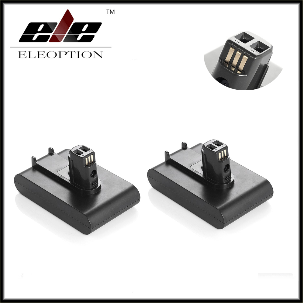 2 pcs Eleoption New 22 2V 2000mAh Li Ion Battery For Dyson DC31 DC34 DC35 Rechargeable