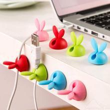 Шпульки твердая намотки симпатичный winder кабельные шнур кролик wrap провод формы
