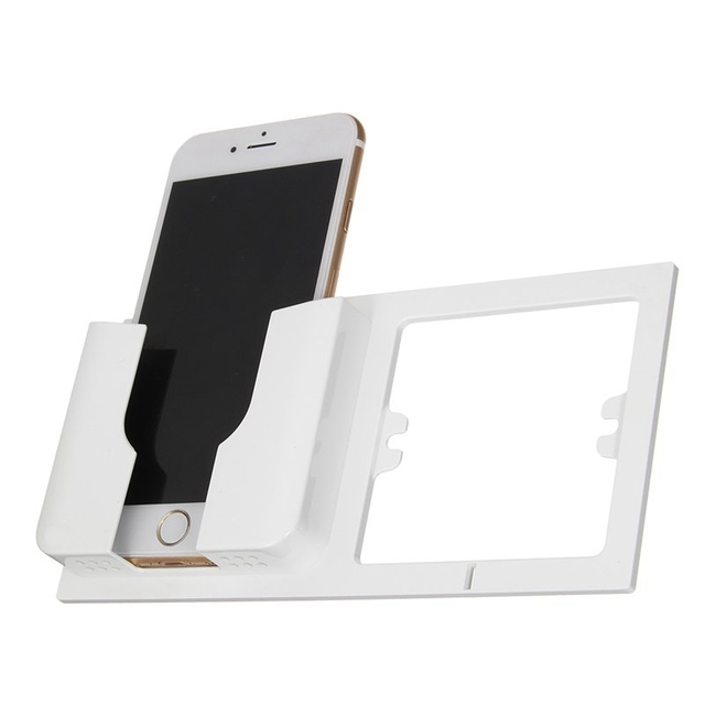 Universal Mobile Phone Holder Charging Stand Fashion Wall Fixed Socket Metal Bracket Convenient For Iphone