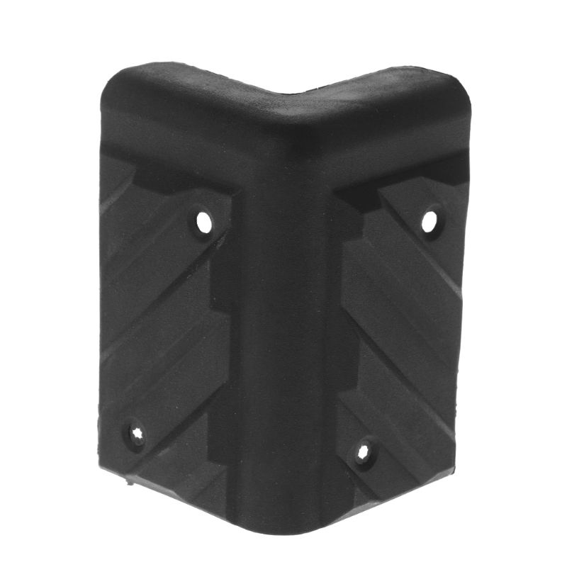 4PCS Speaker Corners Plastic Right Angle Rounded Protector Guitar Amplifier Stage Cabinets Accessories Replacement Black