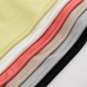 Image 3 - 100% czystego jedwabiu rzeczywistym bluzka damska bluzki z długim podstawowe zbiornik biały czarny czerwony femininas tank top koszulka bez rękawów