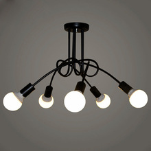 Lámpara de araña Led Vintage para interior, lámpara de techo para restaurante, cafetería, cocina o habitación