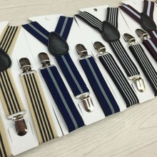 Stripes Baby Boys Children Clip-on Suspender Y-Back Children Elastic Baby Kids Suspenders S01