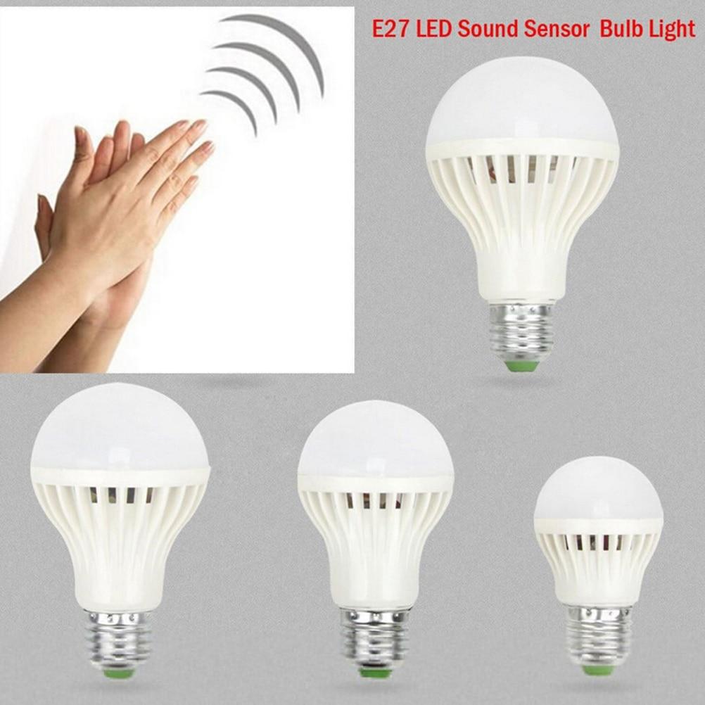3W 5W 7W 12W 220V Smart Lamp Passway Sound/Voice Sensor LED Bulb PIR Motion Induction Light  For Door Stair Lighting