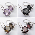 CAGE Earrings,   Silver Rainbow Moonstone & 7 Other Choices Gem Real  Stones