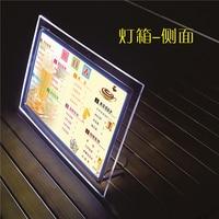 A4 Tabletop Crystal Acrylic LED Light Box Display Lightbox,Illuminated Poster&Menu Frames