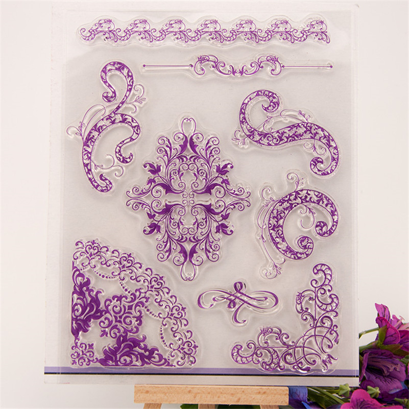 figure flowers lace design Scrapbook DIY photo Album paper cards rubber stamp clear stamp transparent stamp RZ-211 lovely animals and ballon design transparent clear silicone stamp for diy scrapbooking photo album clear stamp cl 278