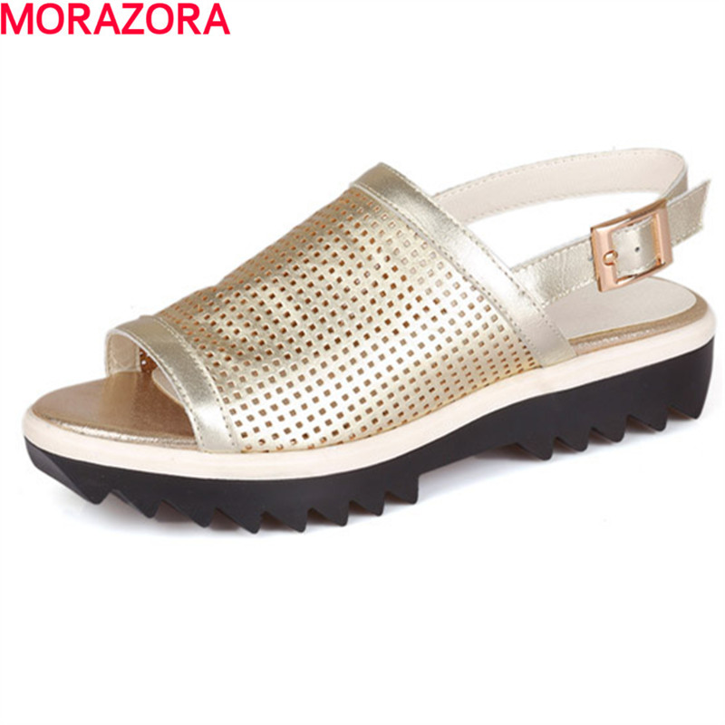 MORAZORA new arrival simple comfortable Women shoes sandals hot sale fashion buckle leisure summer shoes size 34-40 jingde agricultural culture analysis of biological microscope zoom 1600x with led light source analysis of flora and fauna