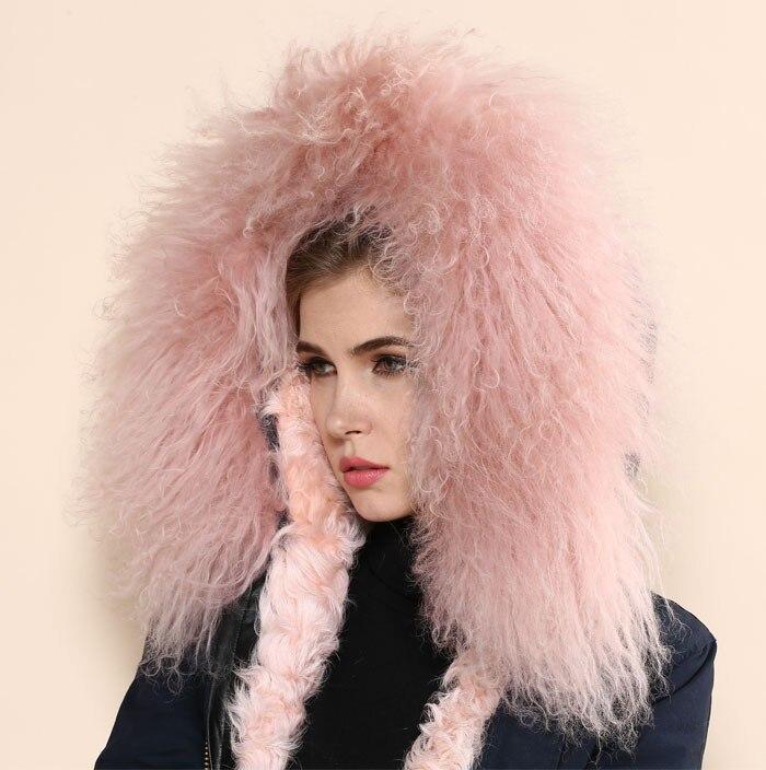 Женская мода овечьей шерстью длинное пальто с овечьей меховой воротник женские пальто овечьей шерстью пальто Длинная стильная