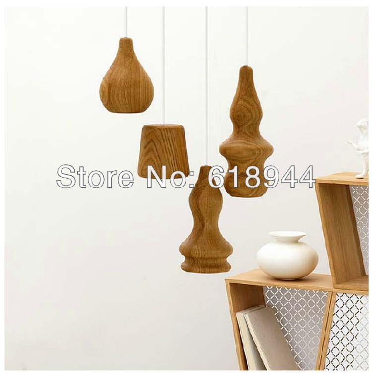 2014 NEW innovative items designer modern wood pendant lights luminaire lamps for home dining room, bedroom, bar and study room