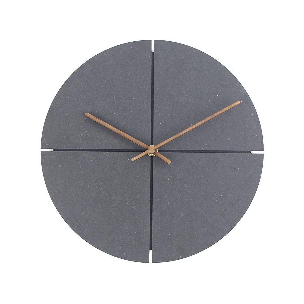 12 inch Wood Wall Clock Simple Modern Nordic Minimalist Clocks Artistic European Brief Wooden Wall Watch Home Decor Silent