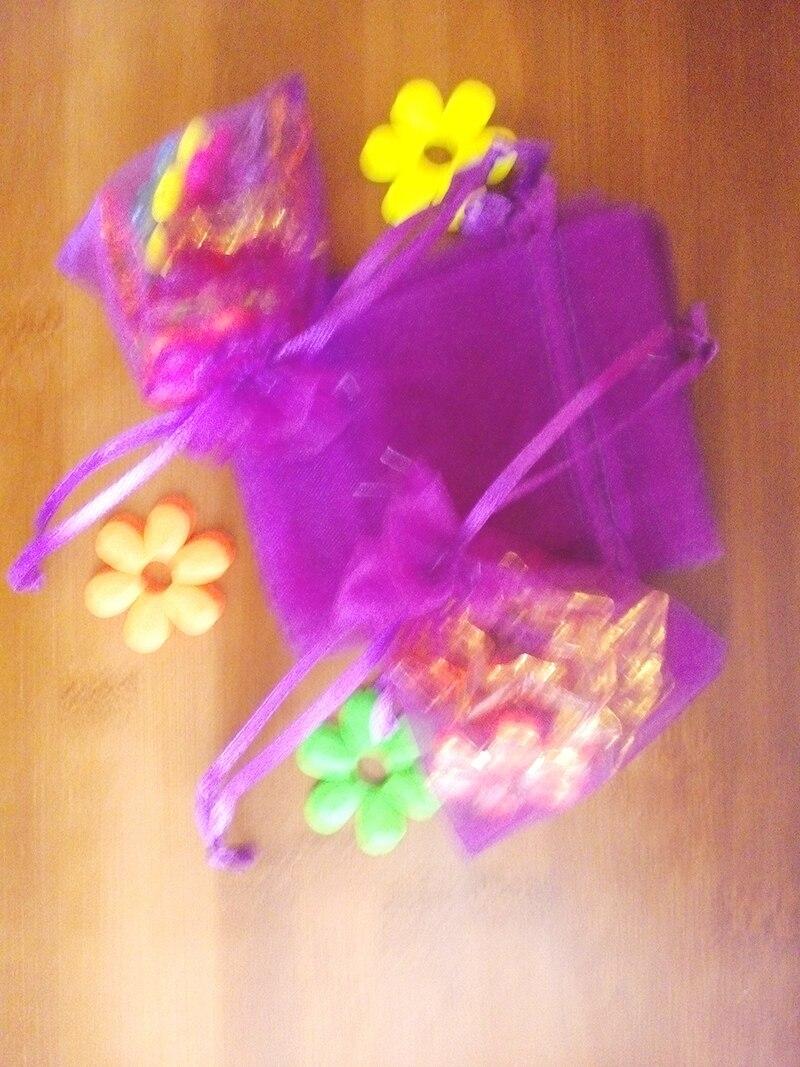 ᗑ7*9 cm 3000 unids navidad del bolso del organza púrpura oscuro ...