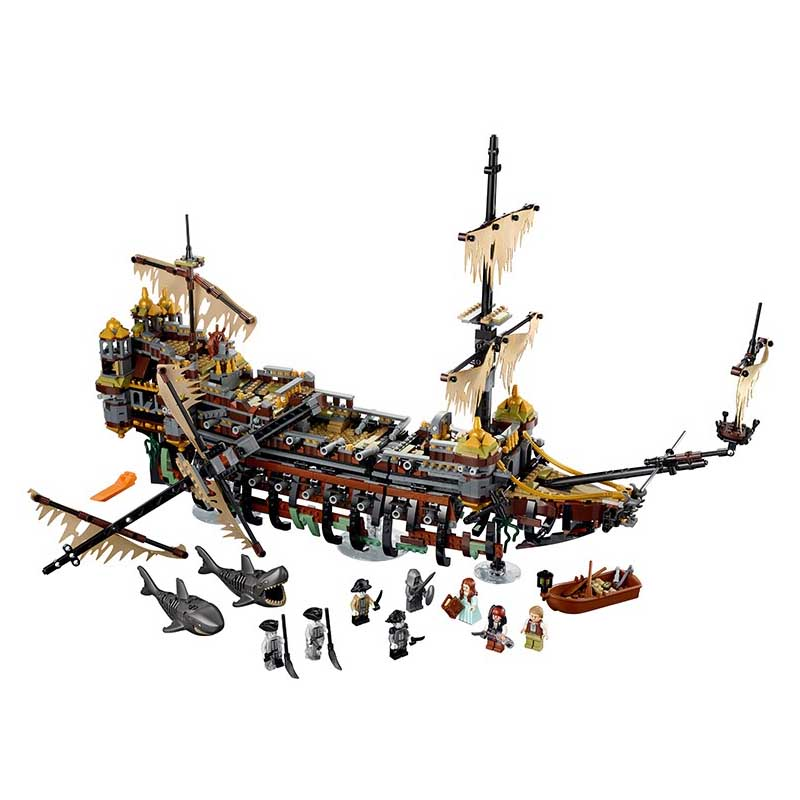 Lepin Pogo Bela 2324pcs+ New Pirate Ship the Slient Mary Building Blocks Bricks Compatible legoe Toys Gifts for Children Model pirate ship metal beard s sea cow model lepin 16002 2791pcs building blocks kids bricks toys for children boys gift compatible