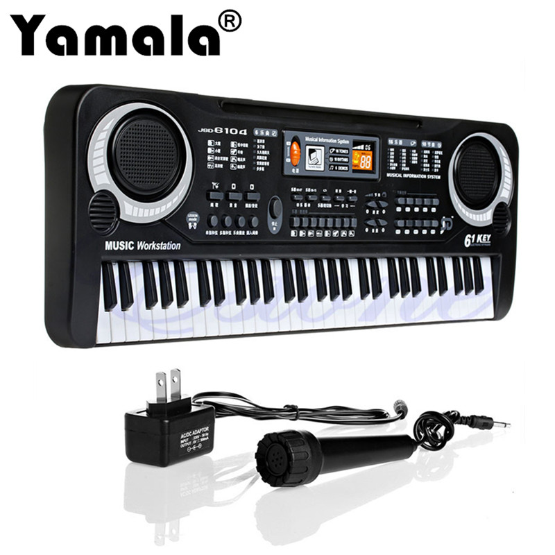 [Yamala] 61 Keys Digital Music Electronic Keyboard Key Board Gift Electric Piano Gift New