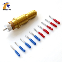 High Quality 1 Pc Golden Roland Blade Holder 5pcs 45 5 Pcs 60 Degree Cutting Plotter