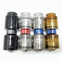 New QP Design KALI V2 RDA Top Airflow 25mm Diameter 510 Thread Replaceable Tank Atomizers Deck Pull Top Filling Vape tank цена