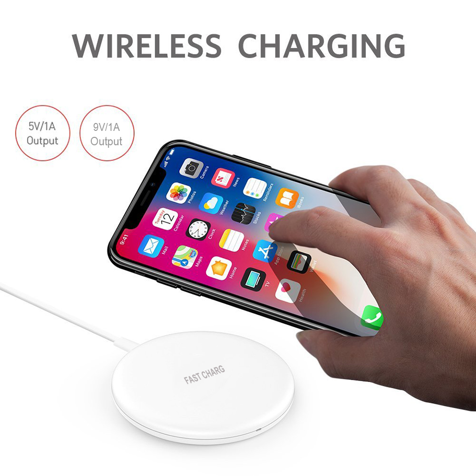 10W 9V Fast Wireless Charger/mini Wireless Charging Pad