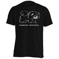 Girocollo Manica Corta Tee Shirt Regular Razza Del Cane Chow Chow Uomo T Shirt Tee S804M Personaggio Dei Cartoni Animati