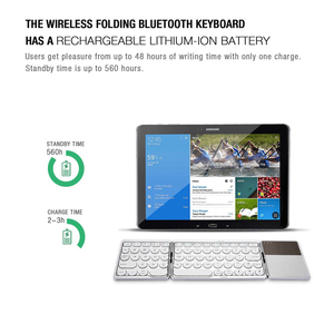 Image 3 - AVATTO NEW B033 Portable Bluetooth Folding Mini Keyboard,Foldable BT Wireless Touchpad Keypad For IOS/Android/Window ipad Tablet