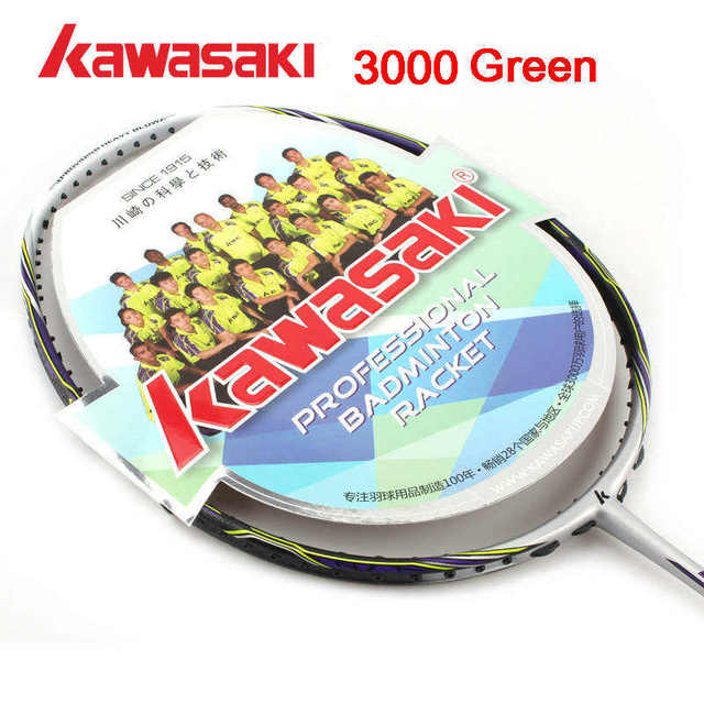 4U Kawasaki Conqueror3000outdoor Sports Professional Damping pair Badminton Rackets strung Racquet with Carry Bag