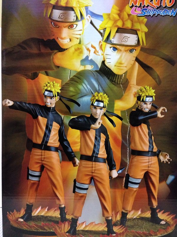 Anime Figure 25 CM Naruto Shippuden Uzumaki Naruto 1/6 Scale Face Change PVC Action Figure Collectible Model Toy Doll anime naruto uzumaki naruto figure bond relation ver pvc action figure resin collection model toy doll gifts cosplay