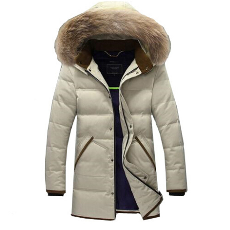 2016 Men's thick Down Overcoat parka Winter Jacket Men 90% White Duck Down Long Jackets Keep Warm Coat high end business man white duck down jacket 2016 models 90% white duck down men outdoors with tops in thick warm coat long coat