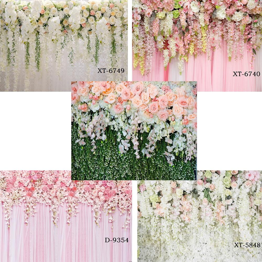 Bridal Shower Wedding Floral Wall Backdrop Flowers Curtain Dessert