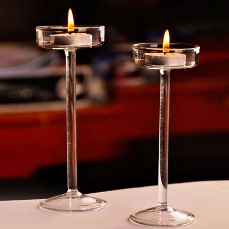 6/8/10/12 cm Candle Light Holder Stylish Light Holder Jar Round Hanging Glass Candle Candlestick porta velas Home Wedding Decor