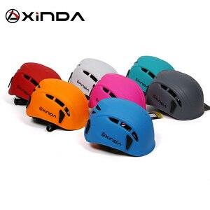 Image 3 - Équipement de sauvetage de montagne de spéléologie de casque de descente descalade extérieure de Xinda pour élargir le casque de travail de spéléologie de casque de sécurité