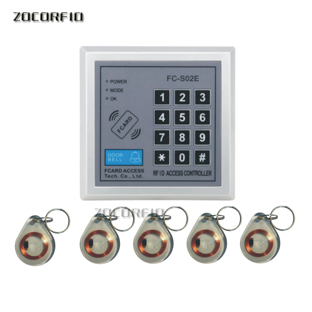 Standalone Access Controller with 10pcs EM keychains RFID Access Control Keypad digital panel Card Reader For Door Lock System|access control|rfid control systemkey card entry system - AliExpress