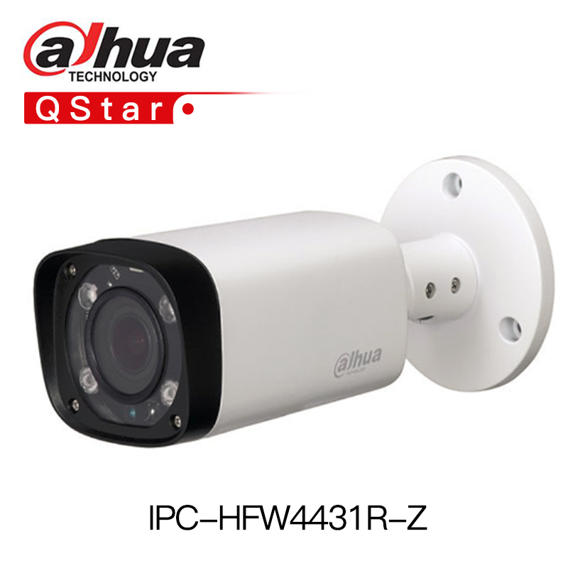 Dahua H.265 outdoor camera IPC-HFW4431R-Z 4MP Night Camera 80m IR Motorized Zoom Auto Focus Bullet IP Camera 2.7~12mm VF lens