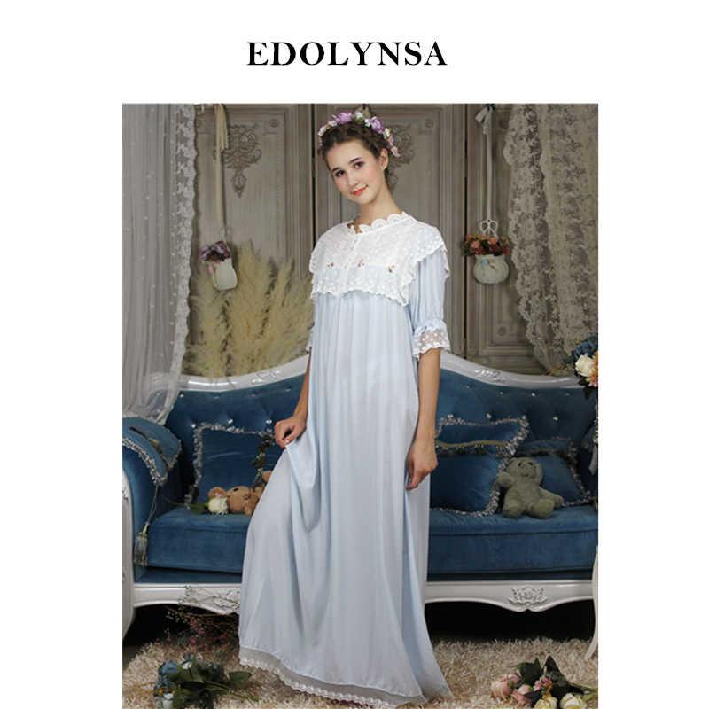 e46104e981ef Викторианский Sleepdress длинная ночная осень Ночная одежда для женщин  износ спальный халат платье принцессы ночную рубашку