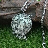 Lanseis 1 шт. Odin Raven Pagan Symbol кулон викингов для мужчин Norse кулон с богами Celt Скандинавская Руна ювелирные изделия