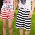 Ms. Beach Lovers Beach Loose Shorts Casual Beach Striped Trousers