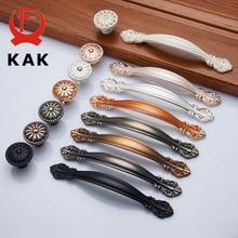 KAK Европейский цинковый сплав ручки шкафа Wadrobe дверные ручки для выдвижных ящиков кухонный шкаф ручки оборудование для обработки мебели
